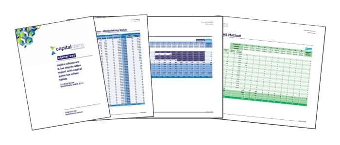 image of sample depreciation schedule